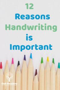 12 Reasons Why Handwriting Is Important   Oak Meadow School