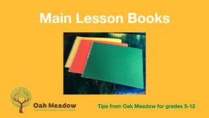 Main lesson book 5-12 cover