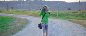Oak Meadow High School student taking photos