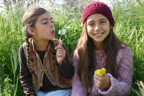 Oak Meadow Boho Girls With Dandelions